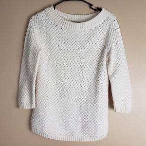 Talbots Ivory Sweater Size M Petite F7